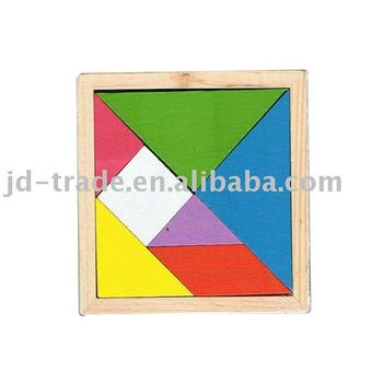 Wooden Tangram educational toy with promotion