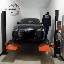 Hot Sale! Made in China 4 Post Hydraulic Car Park Lift 3.2 T Four Post Double Parking Car lift