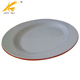 "Customized 10"" two colors melamine oval plates"