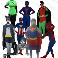 Unique modern most comfort lycra super hero costume women super hero costume