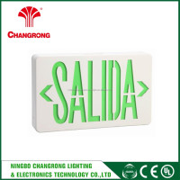 LED Emergency Light Inverter Green Exit Sign Light