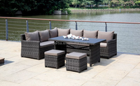 Garden Furniture Rattan Sofa Set of Outdoor Wicker Sofa