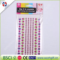Fashion Crystal DIY Decoration Stickers Rhinestones Car Phone Decal Computer Glass Styling Accessories