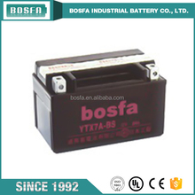 China electric motorcycle battery 12v 6ah YTX7A-BS