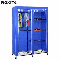 RX-125FABW Non Woven Canvas Fabric Cloth Wardrobe Folding Diy Self Assembling Closet Storage