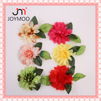 Factory Outlets Fabric Flower Green Leaves 190mm Handmade Artificial Head Flower Corsage Wedding Decoration Wholesale