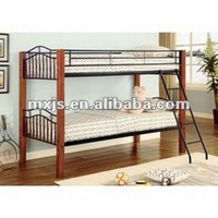 MDF board wooden double bunk bed for school furniture