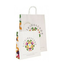 Christmas Paper Bag with handle shopping bag green red and environmental bag
