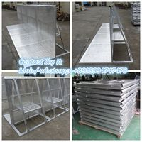 aluminum barrier gate and corners for crowd jam control