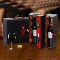 High-grade PU Leather Wine Gift Box Wine Case With Accessories Travel Wine Set