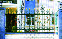 white wrought iron fence, metal fencing on sale