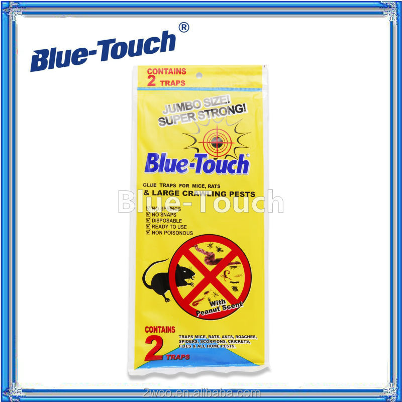 Blue-Touch mouse & rat, scorpion, cockroach trap adhesive Jumbo Glue Traps