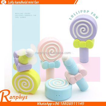 Ranphys Lollipop Shape Hand Pressure Handheld Energy-saving Wireless Fan