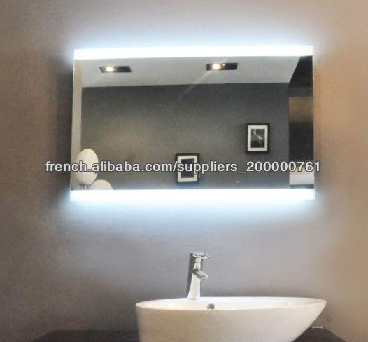 salon clairage led miroir mural mirroir de salle de bain id de produit 500000118438 french. Black Bedroom Furniture Sets. Home Design Ideas