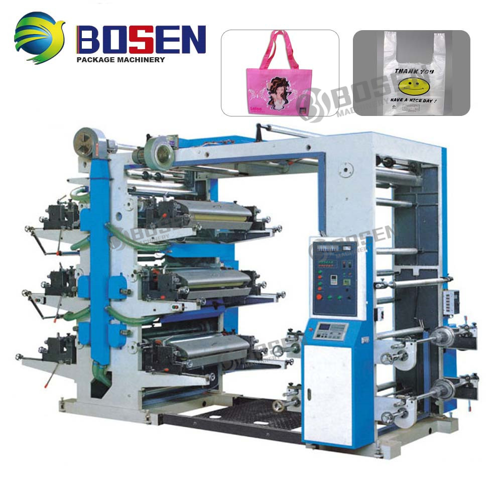 Six-Color Flexographic Printing Machine,Six colour flexo printing machine,two- color flexo printing machine