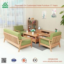Furniture Living Room Sofa Set, Customized Wooden Classic Sofa, Wooden Sofa Set Funiture