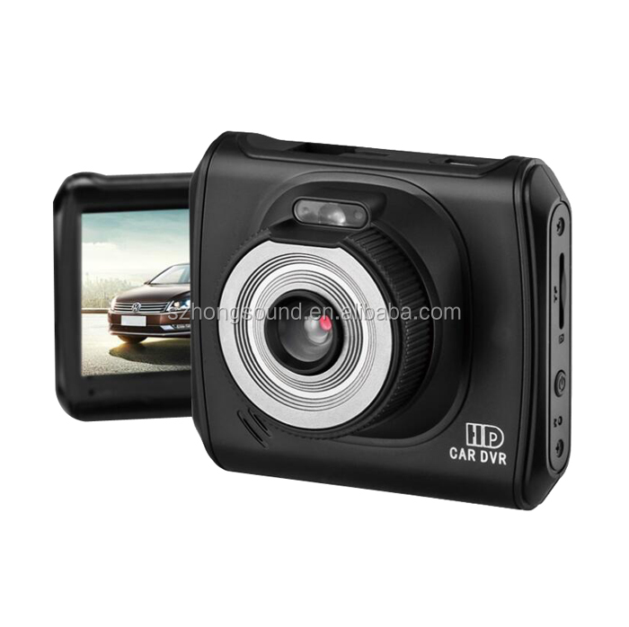 Fish Eye Double Lens Vehicle Driving Recorder Driving Car Dash Camera