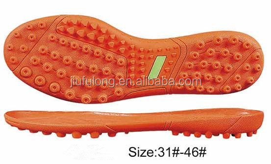 2017 Fashion football shoe soles for Men's outdoor indoor soccer shoes ,rubber tpu shoe soles.
