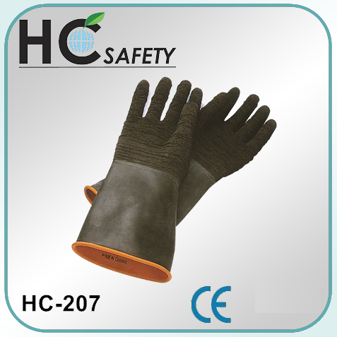 18 inch black fishing ce en388 hand rubber latex safety glove