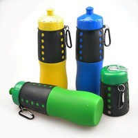 plastic handle for bottled water / fancy silicone water bottle