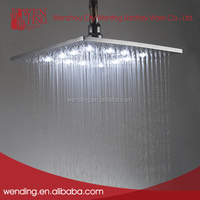 Eco-friendly led chrome color changing shower head
