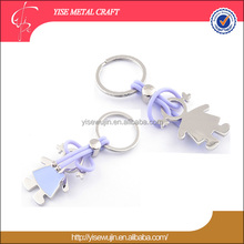 Hot 3D Alloy Metal Girls Model Pendant Key Chain Keyring for Lovely Graduation Birthday wedding Gift key chain