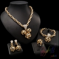 Fashion jewelry Accessories for women 18k gold plated jewelry set