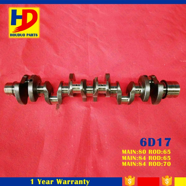 Excavator 6D17 Casting Steel Engine Crankshaft