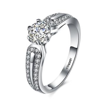 Top Quality Designer platinum plated Diamond Engagement Ring
