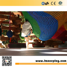 Commercial indoor playground High-quality nylon rope children climbing adventure hand indoor crocheted playground