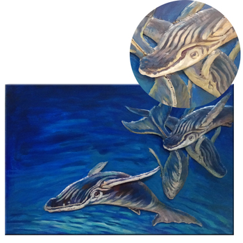 Free sea fish home decoration 3D indoor Metal Art Painting on Iron