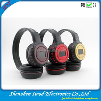 Shenzhen wireless memory card headphone FM headset USB Stereo with Built-in Microphone