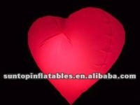 most popular inflatable heart with LED lamp with high quality