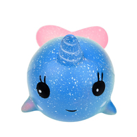 Wholesale Lovely Squishy Animal Toys Soft Pu Kawaii Whale Random Slow Rising Squishies Toys