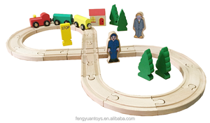 Wooden Train Set 30pcs