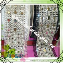 12rows sew on rhinestone mesh trimming