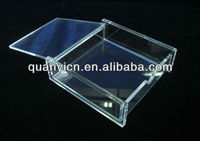2013 customized small clear acrylic boxes with lids