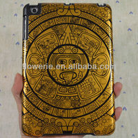 FL659 Hot selling!High quality metal aluminum case hard protective case for ipad mini sun design Maya pattern case for ipad min