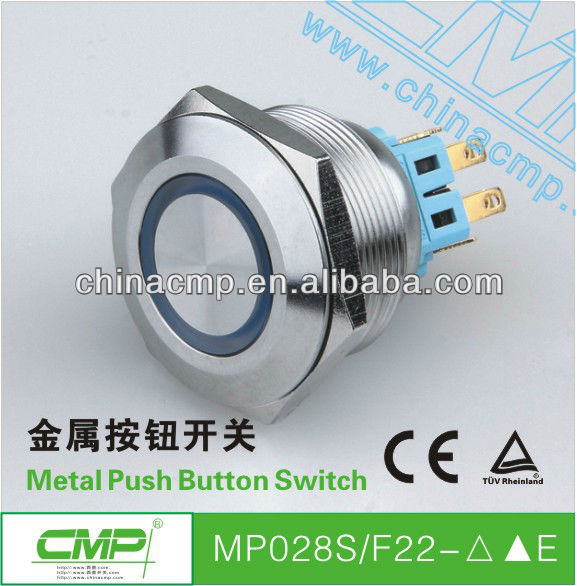 CMP redesign auto or palne led illuminated Special Industrial Waterproof IP67 Push Button Switch,Anti-Vandal Switch (TUV CE )