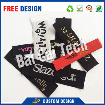 Best price fashion design waterproof silk screen printed label for cloth