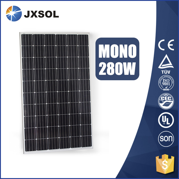 Factory wholesale energy saving 280watts monocrystalline solar panel price