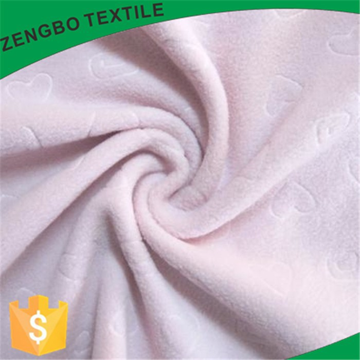solid color jacquard polar fleece fabric for baby's blankets softly and environmentally