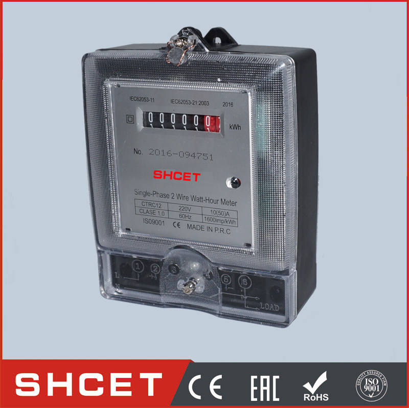 New CET-RC12-A Single Phase Two Wire Static Watt Hour Meter digital watt hour meter kwh watt hour meter