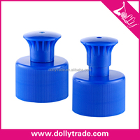28mm Blue Plastic Push Pull Cap Pull Cover for Sport Water Bottle