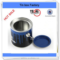Customize New fashion Small tins buket with handle packing cheese biscuite and cookies