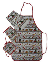 kitchen towel apron and potholder set, oven gloves india
