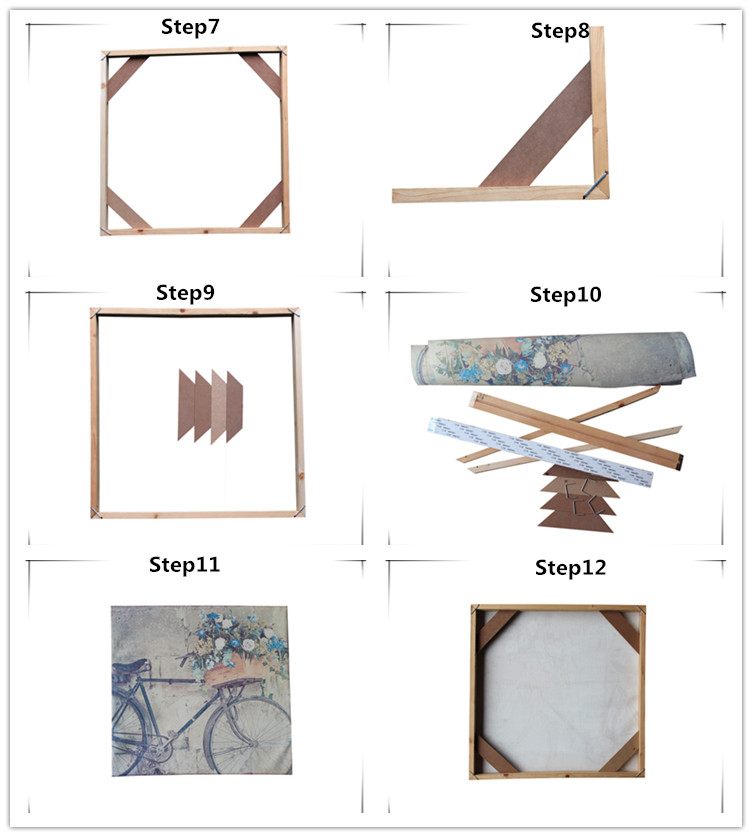 DIY canvas stretcher bar kit for printed canvas