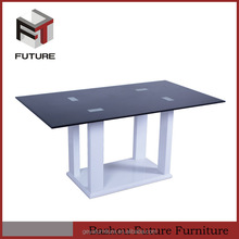 wholesale heavy-duty black metal glass dining table and chairs