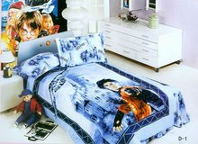 luxury designs and high quality 4pcs 100% cotton children bedding set