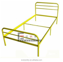 Simple industrial single metal beds, design furniture bedroom single metal beds, military metal beds